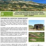 Conca d'Oru Infos – Lettre d'information du Grand Site